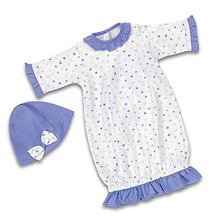 Nighty Nightgown Floral Cotton Baby Doll Accessory Set
