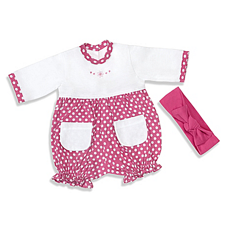 Raspberry Romper Baby Doll Accessory Set With Matching Headband