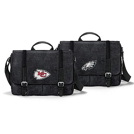 NFL Washed Canvas Men's Messenger Bag: Choose A Team