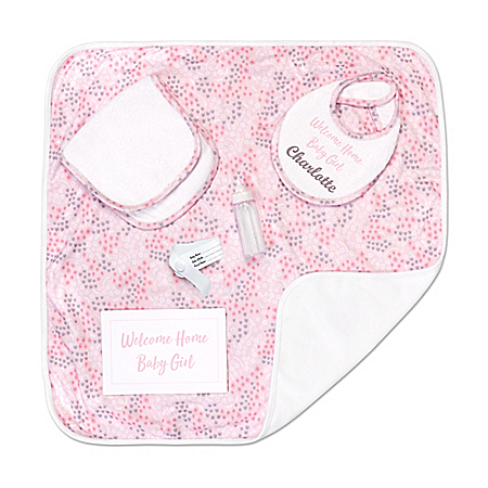 Welcome Home Baby Doll Accessory Set With Personalized Bib