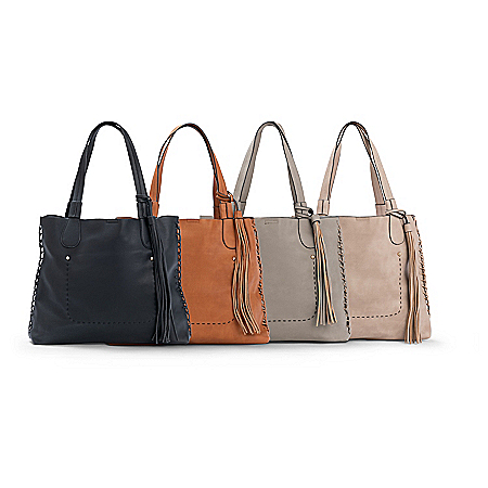 Caroline Tote Bag And Removable Clutch: Choose Your Color