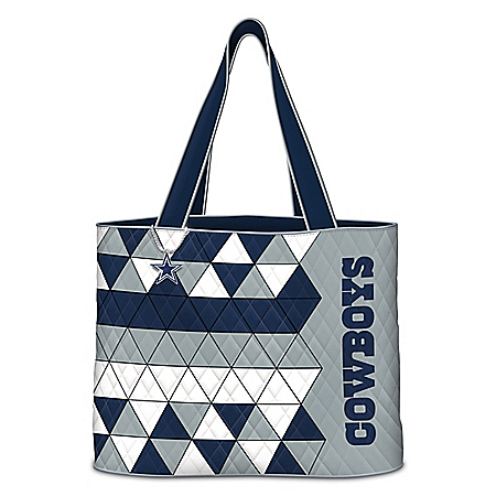 NFL Quilted Tote Bag With Logo Charm: Choose Your Team