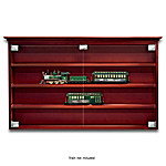 Bridgeport Train Display Wood Cabinet