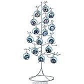 Silver Wire Ornament Tree