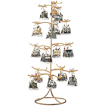 Gold Wire Ornament Tree Display