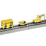 Speeder With Work Crane And Cart: Yellow Train Accessory