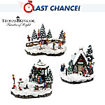 Village Accessory Set: Thomas Kinkade Mistletoe Mountain