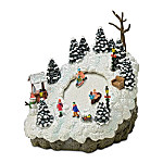Thomas Kinkade Mistletoe Mountain Sledding Hill Village Accessory