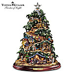 Thomas Kinkade Illuminated Nativity Tabletop Tree: Glory To The Newborn King