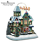 Thomas Kinkade Santa's Visit House Sculpture