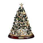 Collectible Irish Nativity Scene Tabletop Tree