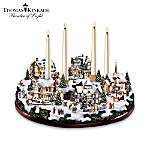 Thomas Kinkade A Holiday Gathering Christmas Centerpiece With Candles