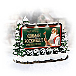 Norman Rockwell Welcome Lighted Sign Village Accessory