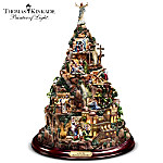 Home Decor Collectibles Thomas Kinkade Christian Tabletop Home Decor: Faith Mountain