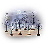 Spooky Trees Halloween Village Accessory Set