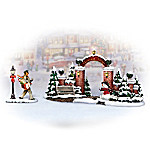 Norman Rockwell's Christmas Village Gate Village Accessory Set