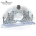 Thomas Kinkade 25th Anniversary Gate Winter Village Accessory