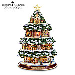 Thomas Kinkade City Sidewalks Animated Tabletop Christmas Tree: Christmas Home Decor