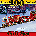 Budweiser Holiday Express Train Gift Set