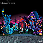 Tim Burton's The Nightmare Before Christmas Black Light Village Set