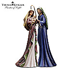 Christmas Nativity Sets Thomas Kinkade Blessed And Holy Night Nativity Set
