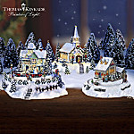 Illuminated Miniature Village: Thomas Kinkade Happy Holidays