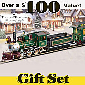 Thomas Kinkade Christmas Express Train Set