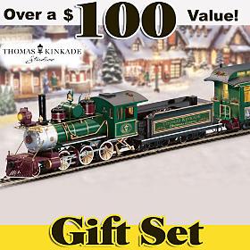 Thomas Kinkade Christmas Express Train Set