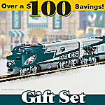 Philadelphia Eagles Express Train Gift Set