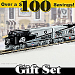 Oakland Raiders Express Train Gift Set
