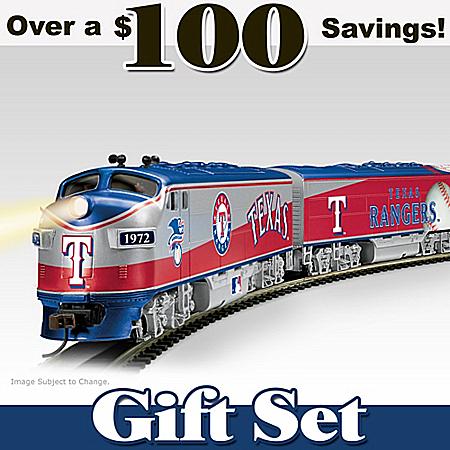 MLB Texas Rangers Express Electric Train Set