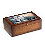 Thomas Kinkade Vintage Wood Storage Box Train Accessory