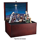 Glory To The Newborn King Nativity Keepsake Box