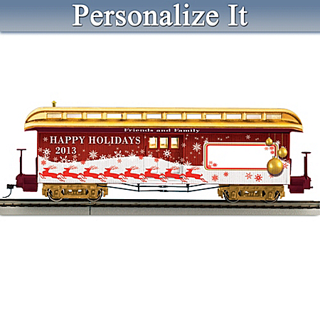 2013 Personalized Holiday Train Car
