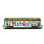 The Peanuts Christmas Express Good Grief Baggage Car Collectible Train Accessory