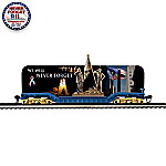 World Trade Center Tribute Flat Bed Electric Train Car: We Will Never Forget