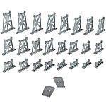 16-Piece N-Scale Railroad Layout Graduated Pier Set Train Accessory