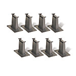 8-Piece N-Scale Railroad Layout All Tall Pier Set Train Accessory