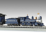 The Royal Blue N Scale Steam Locomotive Train Set