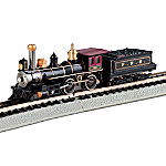 N-Scale Steam Train Car: The Pennsylvania 4-4-0 American And Tender