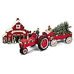 click for Full Info on this 75 Years Of Farmall Red Anniversary Edition Christmas Figurine Set