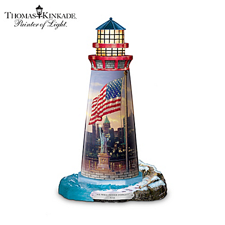 "Thomas Kinkade ""The Light Of Freedom"" Lighthouse Sculpture"