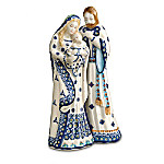 Polish Stoneware Boleslawiec Nativity Set