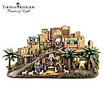 The Thomas Kinkade Bethlehem Masterpiece Nativity Set