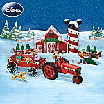 Disney Mickey Mouse Christmas Sculpture Set: Bringing Home The Tree With Mickey Mouse