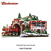 Budweiser Christmas Mountain Tunnel Train Accessory