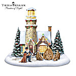 Sculpture: Thomas Kinkade Light Of Christmas Lighthouse Sculpture