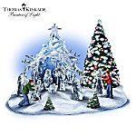 Thomas Kinkade Diamonds In The Snow Nativity Set