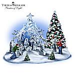 Thomas Kinkade Diamonds In The Snow Nativity Set