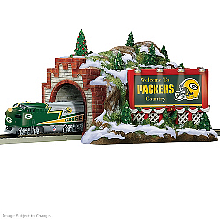 Train Accessory: NFL Green Bay Packers Christmas Mountain Tunnel